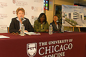The University of Chicago Medicine held a community meeting Thursday at the Life Center COGIC located at 5500 S. Indiana the purpose of this meeting was to let the public know about its proposal to increase emergency, adult trauma and cancer care.<br /> <br /> Sharon O&rsquo;Keef, President, University of Chicago Medical Center explains the background behind the intended proposal with Dr. Olufunmilayo Olopade, Director of the Center for Clinical Cancer Genetics at University of Chicago Medicine and Cristal Thomas, Vice President of Community Health Engagement at the University of Chicago Medicine.<br /> <br /> Please 'Like' &quot;Spencer Bibbs Photography&quot; on Facebook.<br /> <br /> All rights to this photo are owned by Spencer Bibbs of Spencer Bibbs Photography and may only be used in any way shape or form, whole or in part with written permission by the owner of the photo, Spencer Bibbs.<br /> <br /> For all of your photography needs, please contact Spencer Bibbs at 773-895-4744. I can also be reached in the following ways:<br /> <br /> Website &ndash; www.spbdigitalconcepts.photoshelter.com<br /> <br /> Text - Text &ldquo;Spencer Bibbs&rdquo; to 72727<br /> <br /> Email &ndash; spencerbibbsphotography@yahoo.com