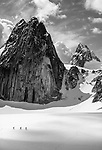 Mountaineers near Snowpatch Spire, The Bugaboos, Canada