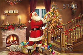 Interlitho, Patricia, CHRISTMAS SANTA, SNOWMAN, paintings, santa, stair, room(KL5746,#X#) Weihnachtsmänner, Schneemänner, Weihnachen, Papá Noel, muñecos de nieve, Navidad, illustrations, pinturas