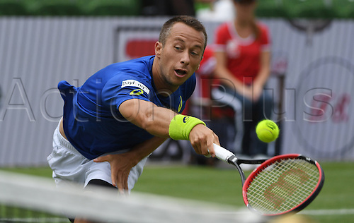 08.06.2016. Stuttgart, Germany.  Germany's Philipp Kohlschreiber in action against Denis Kudla of the USA during their second round match at the ATP tennis tournament in Stuttgart, Germany, 08 June 2016.