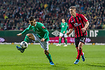 02.11.2019, wohninvest WESERSTADION, Bremen, GER, 1.FBL, Werder Bremen vs SC Freiburg<br /> <br /> DFL REGULATIONS PROHIBIT ANY USE OF PHOTOGRAPHS AS IMAGE SEQUENCES AND/OR QUASI-VIDEO.<br /> <br /> im Bild / picture shows<br /> Milot Rashica (Werder Bremen #07), <br /> Roland Sallai (SC Freiburg #22), <br /> <br /> Foto © nordphoto / Ewert