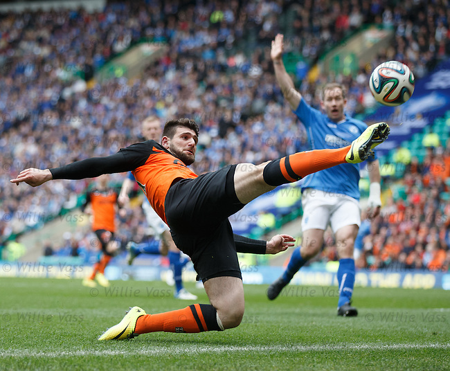 Nadir Ciftci hooks the ball back into play