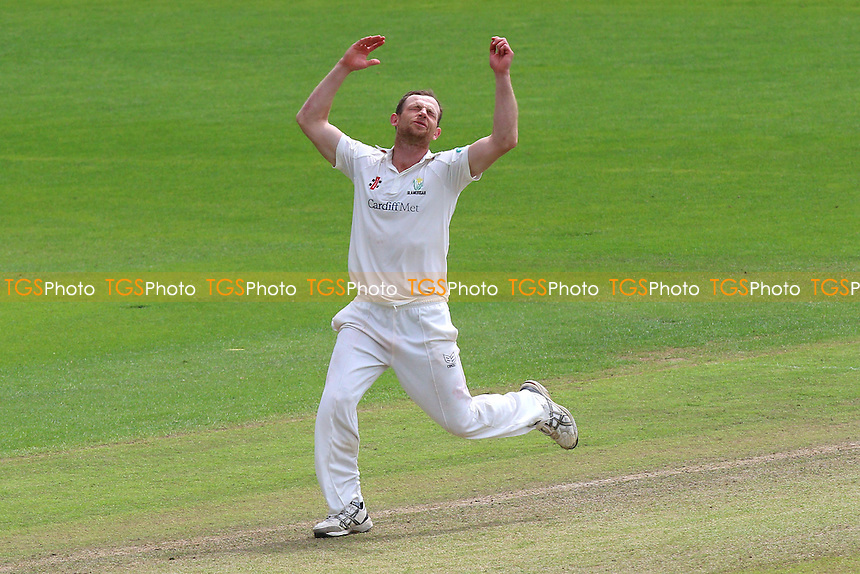 Graham Wagg of Glamorgan reacts as the ball flies to the boundary during Glamorgan CCC vs Essex CCC, Specsavers County Championship Division 2 Cricket at the SSE SWALEC Stadium on 23rd May 2016