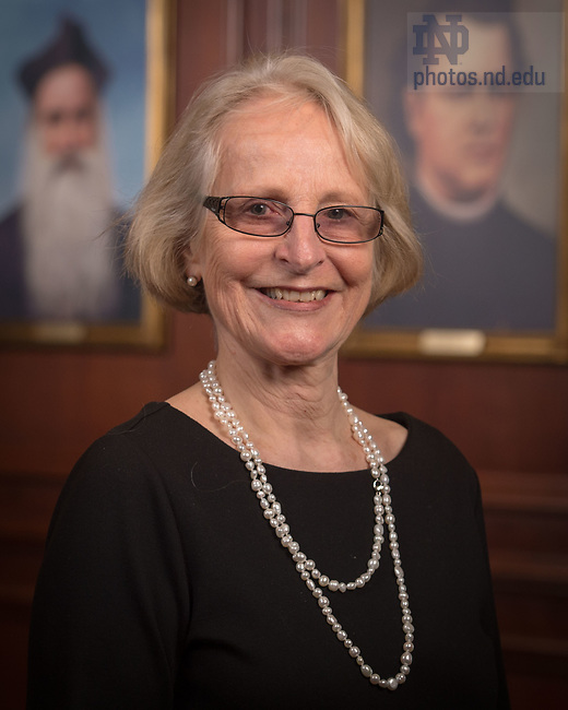 April 12, 2017; Catherine Zuckert, Emerita faculty portrait (Photo by Matt Cashore/University of Notre Dame)