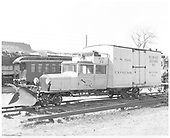 RGS Goose #2 left front view with plow on pilot.<br /> RGS  Colorado Railroad Museum, Golden, CO  Taken by Payne, Andy M. - 3/4/1974