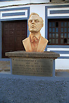 Bust of Juan Rodriguez y Gonzales founder of Banco of Canaries, Tetir, Fuerteventura, Canary Islands, Spain