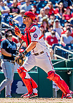 9 July 2017: Washington Nationals catcher Matt Wieters in action against the Atlanta Braves at Nationals Park in Washington, DC. The Nationals defeated the Atlanta Braves to split their 4-game series going into the All-Star break. Mandatory Credit: Ed Wolfstein Photo *** RAW (NEF) Image File Available ***