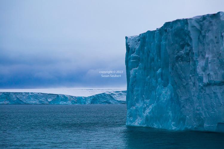 Austfonna Ice Cap on Nordaustlandet, Svalbard, Norway