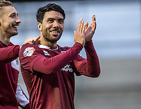 Goal hero Danny Rose of Northampton Town after the Sky Bet League 2 match between Northampton Town and Wycombe Wanderers at Sixfields Stadium, Northampton, England on the 20th February 2016. Photo by Liam McAvoy.