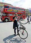 OLIMPIZAM, NOVI SAD, 24. May. 2012. - Biciklista Ivan Stevic.  Zavrsne, sedamnaeste EkOlimpijske igre odrzane su danas na Trgu slobode u Novom Sadu. Foto: Nenad Negovanovic