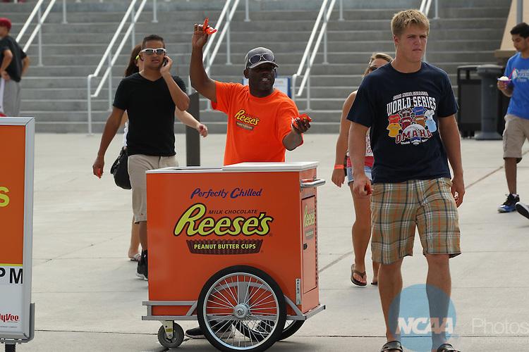 24 JUNE 2012:  The University of Arizona takes on the University of South Carolina during the Division I Men's Baseball Championship held at TD Ameritrade Park in Omaha, NE.  Jamie Schwaberow/NCAA Photos