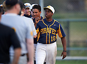 Boca Ciega Pirates Darius Blasingane (10) after a game against the Lakeland Spartans at Boca Ciega High School on March 2, 2016 in St. Petersburg, Florida.  (Copyright Mike Janes Photography)