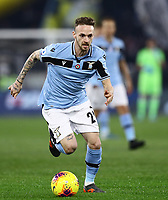 11th January 2020; Stadio Olympico, Rome, Italy; Serie A Football, Lazio versus Napoli; Lazio's Italian midfielder Manuel Lazzari - Editorial Use