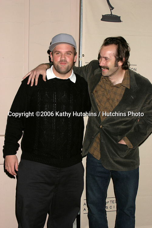 Ethan Suplee.Jason Lee.My Name Is Earl ATAS Panel.Academy of Television Arts and Sciences Theater.No Hollywood, CA.February 23, 2006.©2006 Kathy Hutchins / Hutchins Photo....