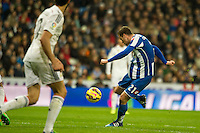 Deportivo de la Coruna's Oriol Riera during 2014-15 La Liga match between Real Madrid and Deportivo de la Coruna at Santiago Bernabeu stadium in Madrid, Spain. February 14, 2015. (ALTERPHOTOS/Luis Fernandez) /NORTEphoto.com
