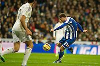 Deportivo de la Coruna's Oriol Riera during 2014-15 La Liga match between Real Madrid and Deportivo de la Coruna at Santiago Bernabeu stadium in Madrid, Spain. February 14, 2015. (ALTERPHOTOS/Luis Fernandez) /NORTEphoto.com
