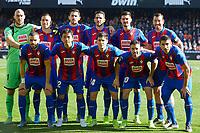 4th January 2020; Mestalla, Valencia, Spain; La Liga Football,Valencia versus Eibar; Eibar squad lines up prior to the game - Editorial Use