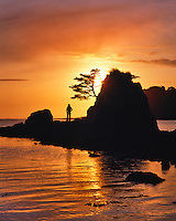 Sunset at Siletz Bay in Lincoln County, Oregon