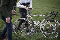 Fabian Cancellara's broken off derailleur <br /> <br /> E3 - Harelbeke 2016