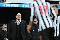Newcastle United manager Rafa Benítez during Newcastle United vs Manchester United, Premier League Football at St. James' Park on 11th February 2018