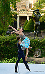 Pontus Lidberg dance company performs in the outdoor garden the Rockefeller Brothers Funds' Pocantico Center, August 8, 2014