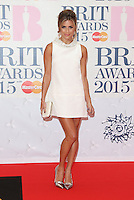 Zoe Hardman arriving at The Brit Awards 2015 (Brits) held at the O2 - Arrivals, London. 25/02/2015 Picture by: James Smith / Featureflash