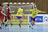 Marius Mocanu si Ionut Ramba se bucura dupa marcarea unui gol
