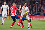 "Atletico de Madrid Yannick Carrasco and Real Madrid Francisco Roman ""Isco"" during La Liga match between Atletico de Madrid and Real Madrid at Wanda Metropolitano in Madrid, Spain. November 18, 2017. (ALTERPHOTOS/Borja B.Hojas)"