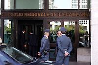 NAPOLI ISPEZIONE DELLA GUARDIA DI FINANZA NELLA SEDE DEL CONSIGLIO REGIONALE DELLA CAMPANIA.FOTO CIRO DE LUCA