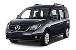 2015 Mercedes Benz Citan 109 Cdi 5 Places 5 Door Passenger Van Angular Front stock photos of front three quarter view