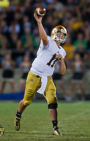Quarterback Tommy Rees (11) throws in the third quarter.