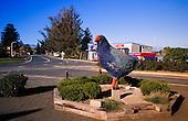 Te Anau's icon, the Takahe, on Lakeside road, South Island, New Zealand.