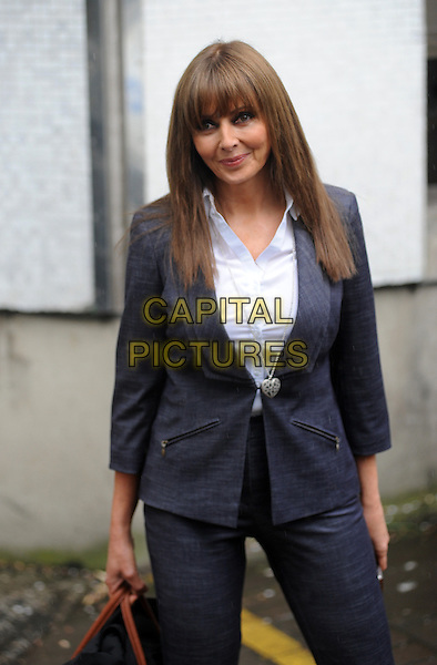 LONDON, ENGLAND - APRIL 07: Carol Vorderman at ITV Studios on April 7th, 2014 in London, England.<br /> CAP/AOU<br /> &copy;AOU/Capital Pictures
