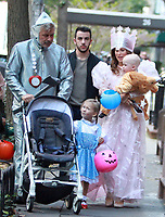 NEW YORK, NY October 31, 2017  Alec Baldwin, Carmen Baldwin, Hilaria Thomas, Leonardo Angel Charles Badwin,,dress for Halloween in New York October 31,  2017. Credit:RW/MediaPunch