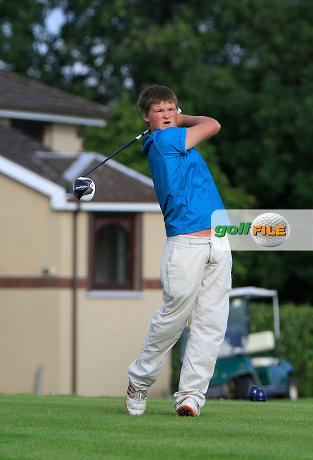 James Cronin (Woodbrook) on the 1st tee during the Irish Boys Under 15 Amateur Open Championship Round 2 at the West Waterford Golf Club on Wednesday 21st August 2013 <br /> Picture:  Thos Caffrey/ www.golffile.ie