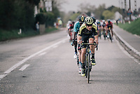 Carlos Verona (ESP/Michelton-Scott) up front<br /> <br /> 58th De Brabantse Pijl 2018 (1.HC)<br /> 1 Day Race: Leuven - Overijse (BEL/202km)