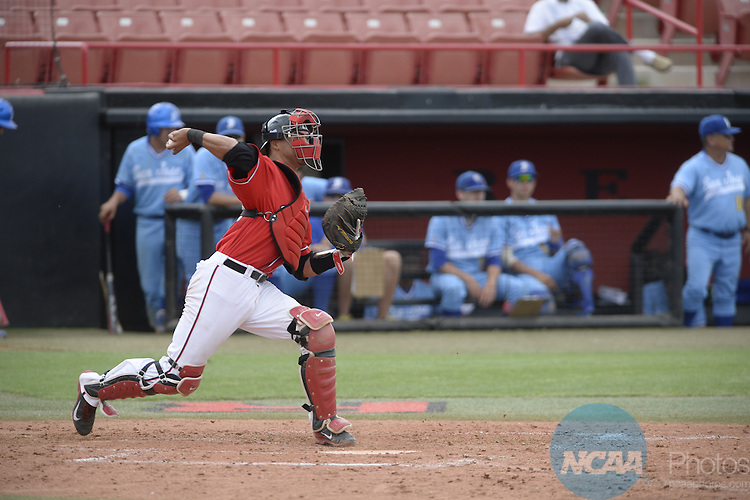 21 May 2014: San Jose State against San Diego State during the Mountain West Baseball Championship Tournament at Earl E. Wilson Baseball Stadium in Las Vegas, NV. Peter Lockley/NCAA Photos