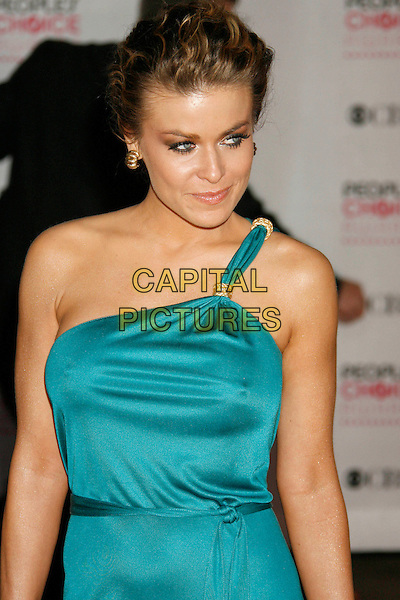 CARMEN ELECTRA.The 33rd Annual People's Choice Awards held at The Shrine Auditorium, Los Angeles, California, USA..January 9th, 2007.half length blue turquoise one shoulder dress.CAP/ADM/RE.©Russ Elliot/AdMedia/Capital Pictures