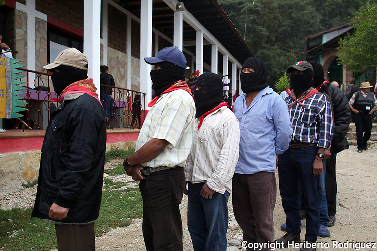 Hundreds of indigineous people from all around Mexico meet at the Zapatista stronghold of Chiapas state to discuss on the proposal to participate in the Mexican elections for President in 2018, in the venue of CIDECI Unitierra in San Cristobal las Casas Chiapas, May 27, 2017. Photo by Heriberto Rodriguez