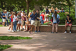 orientation by frisbee.  Photo by Kevin Bain/Ole Miss Communications