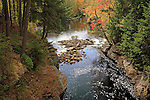 Snow Falls Gorge in the Autumn, West Paris, Oxford County, Maine, USA.