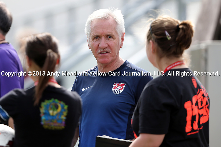09 November 2013: Head coach Tom Sermanni (SCO). The United States Women's National Team held a Training Session at the Citrus Bowl in Orlando, Florida