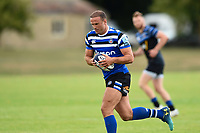 Jamie Roberts of Bath Rugby in action. Bath Rugby pre-season training on August 8, 2018 at Farleigh House in Bath, England. Photo by: Patrick Khachfe / Onside Images
