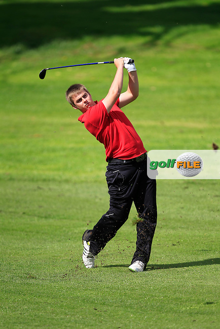 Gary Collins (Rosslare) on the 18th  during Day 3 of the Irish Youths Amateur Close Championship at Claremorris Golf Club on Friday 30th August 2013 <br /> Picture:  Thos Caffrey/ www.golffile.ie