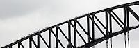 14 SEP 2009 - SYDNEY, AUS - Visitors walk to the top of Sydney Harbour Bridge (PHOTO (C) NIGEL FARROW)