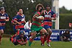 Maka Tatafu steps out of the Gary Saifoloi tackle. Counties Manukau Premier rugby game between Waiuku & Ardmore Marist played at Waiuku on Saturday May 10th 2008..Ardmore Marist won 27 - 6 after leading 10 - 6 at halftime.