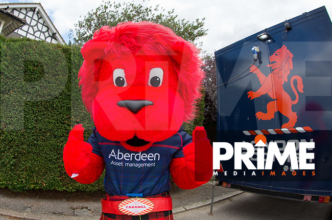 London Scottish Mascot ahead of the Pre Season Friendly match between London Scottish Football Club and Cardiff Blues at Richmond Athletic Ground, Richmond, United Kingdom on 19 August 2017. Photo by Andy Rowland.