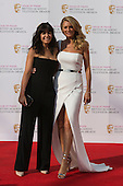 London, UK. 8 May 2016. Strictly Come Dancing presenters Claudia Winkleman and Tess Daly. Red carpet  celebrity arrivals for the House Of Fraser British Academy Television Awards at the Royal Festival Hall.