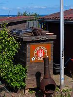 Schrebergarten auf dem Oberland,  Insel Helgoland, Schleswig-Holstein, Deutschland, Europa<br /> garden plot,  Oberland, Helgoland island, district Pinneberg, Schleswig-Holstein, Germany, Europe