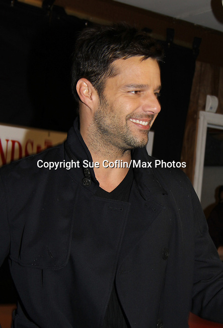 "General Hospital  - Ricky Martin signs his new book ""Me"" on November 4, 2010 at Bookends, Ridgewood, New Jersey with hundreds of fans standing outside in the rain since early morning. ""Ricky Martin's story is about his enlightening life lessons, the relationships that allowed him to embrace love, and the crucial decisions he has made on the path to becoming the man  - the father - he is today.""  ""Me"" is an intimate memoir about the liberating and spirtual passage that turned a young boy names Enrique Martin Morales into far more than just one of the most iconic pop stars of our time."" (Photo by Sue Coflin/Max Photos)"